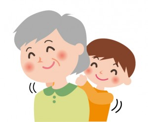 祖母と小学生の孫